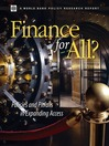Finance for All? (eBook): Policies and Pitfalls in Expanding Access